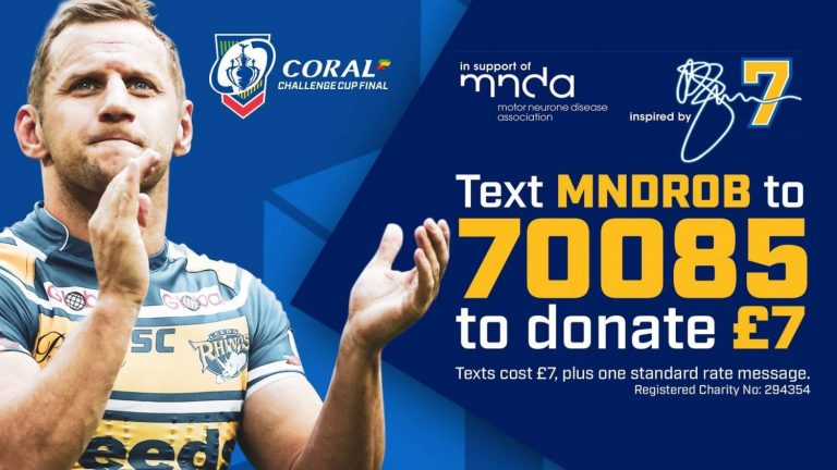 Rob Burrow to be Chief Guest at 2020 Coral Challenge Cup Final – in absentia