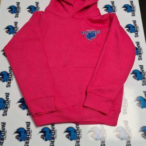 Bright Pink Panther logo kids hoodie