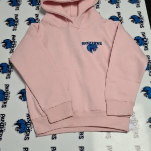 baby pink kinds hoodie panther logo
