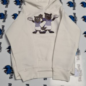 white panther print kids hoodie