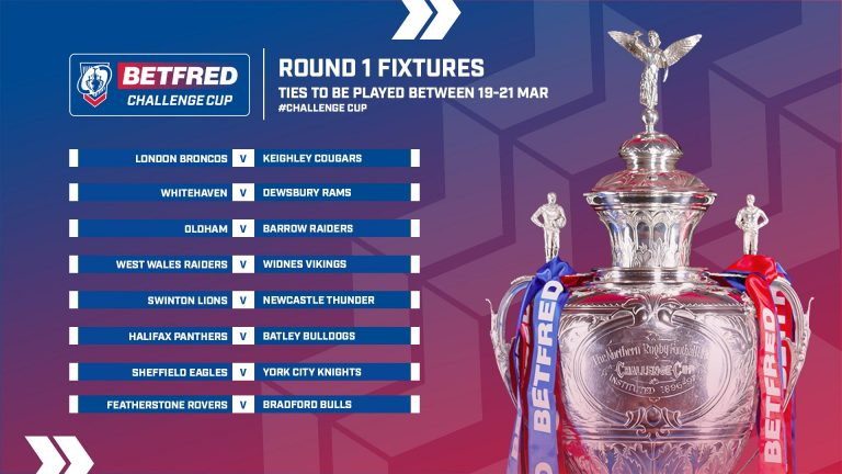 BETFRED CHALLENGE CUP | PANTHERS TO HOST BULLDOGS